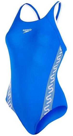 speedo Endurance+ Monogram Muscleback Swimsuit Women deep peri/white